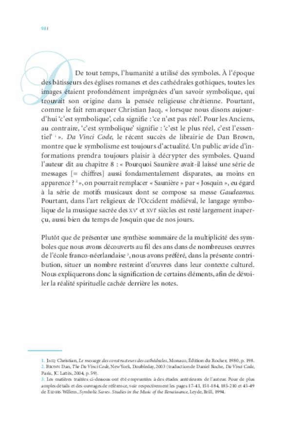 Musique, théologie et sacré: d'Oresme à Érasme, extrait 3