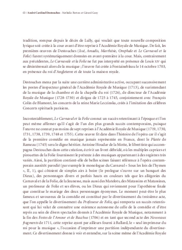 Le Carnaval et la Folie d'André Cardinal Destouches, extrait 4