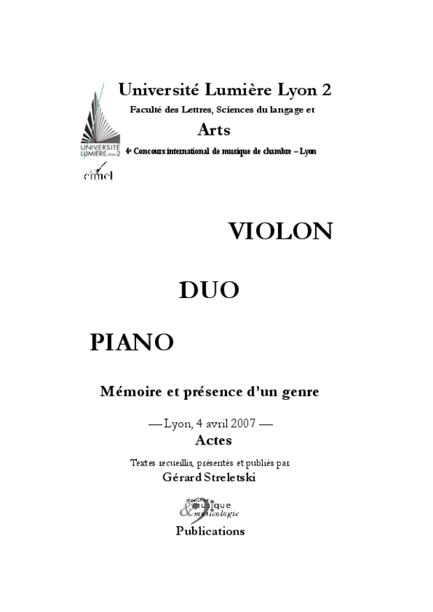 Duo violon-piano, extrait 3