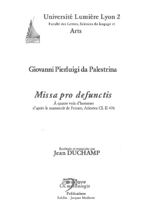Missa pro defunctis, extrait 3
