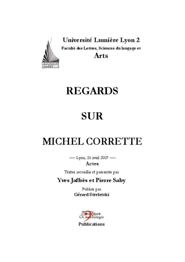 Regards sur Michel Corrette, extrait 3