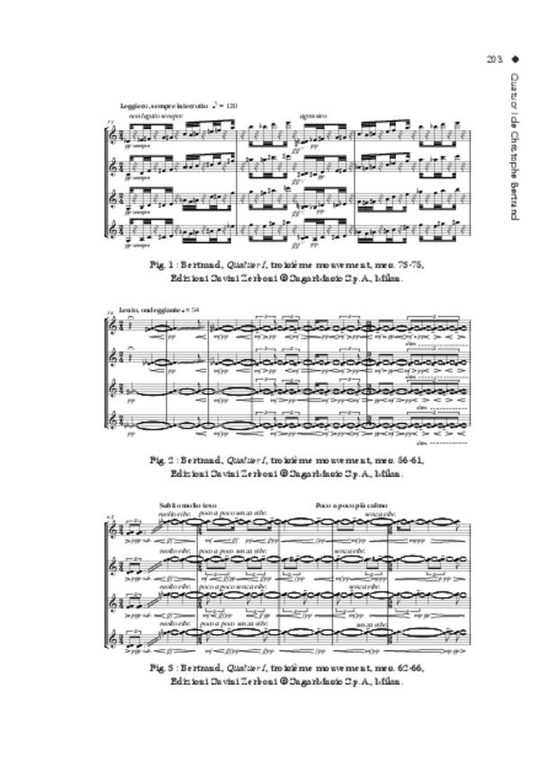 Le Quatuor à cordes, vers les séductions de l'extrême, extrait 11