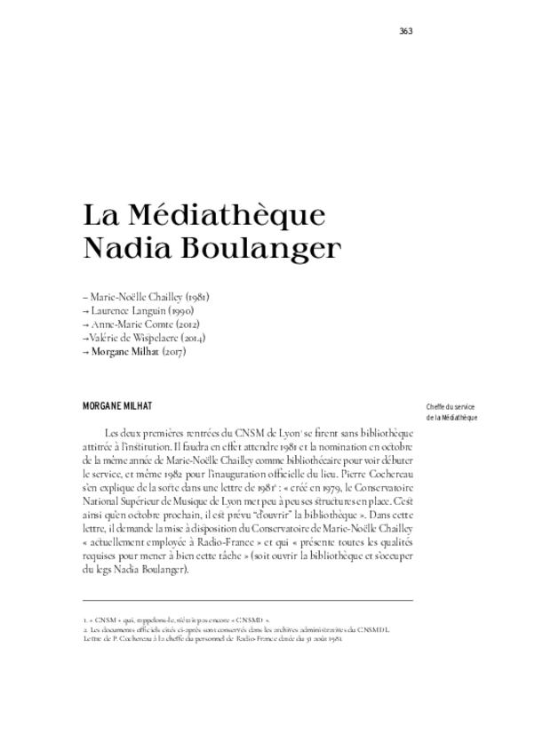 40 ans. Conservatoire national supérieur musique et danse de Lyon, extrait 13