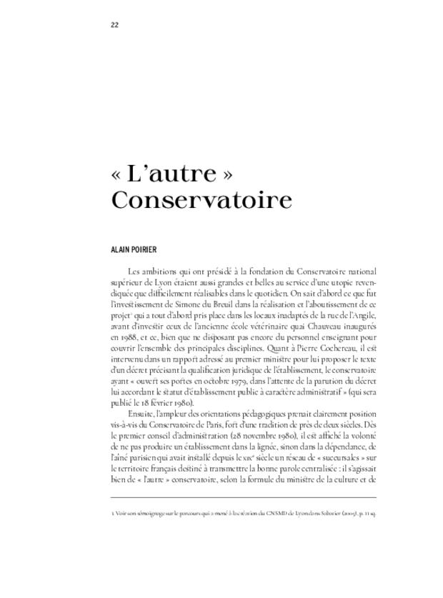 40 ans. Conservatoire national supérieur musique et danse de Lyon, extrait 7