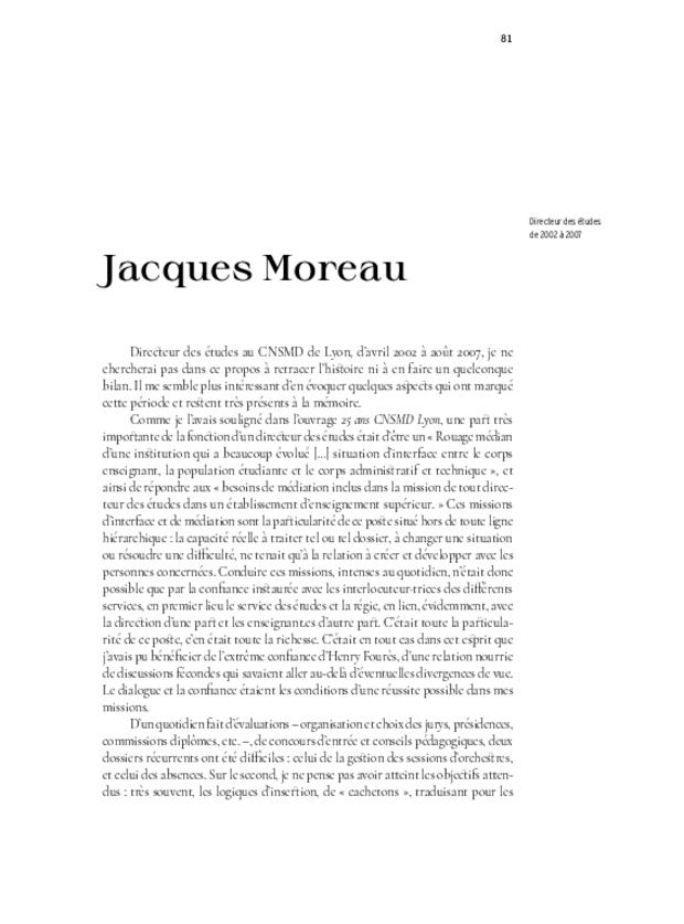 40 ans. Conservatoire national supérieur musique et danse de Lyon, extrait 8