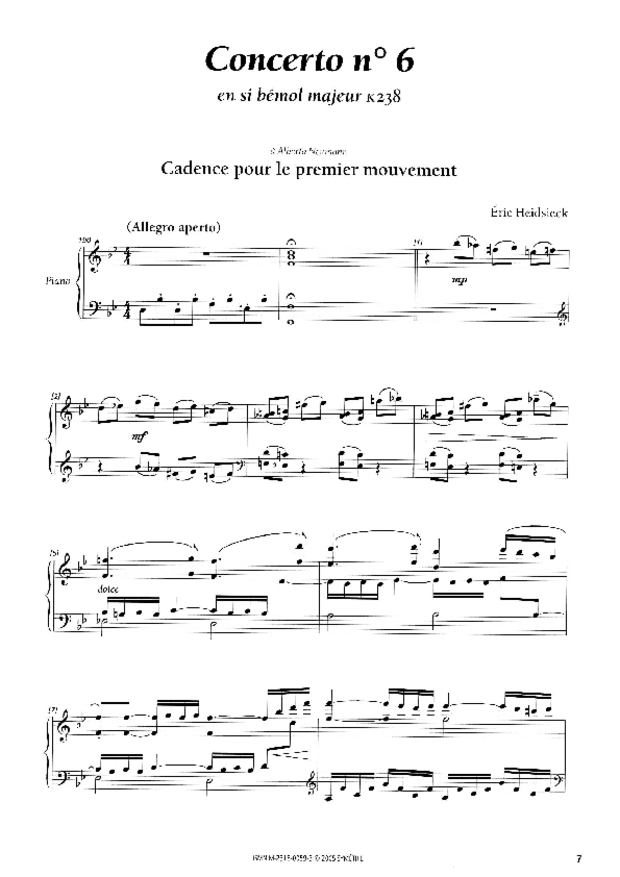 Cadences et points d'orgue, extrait 1