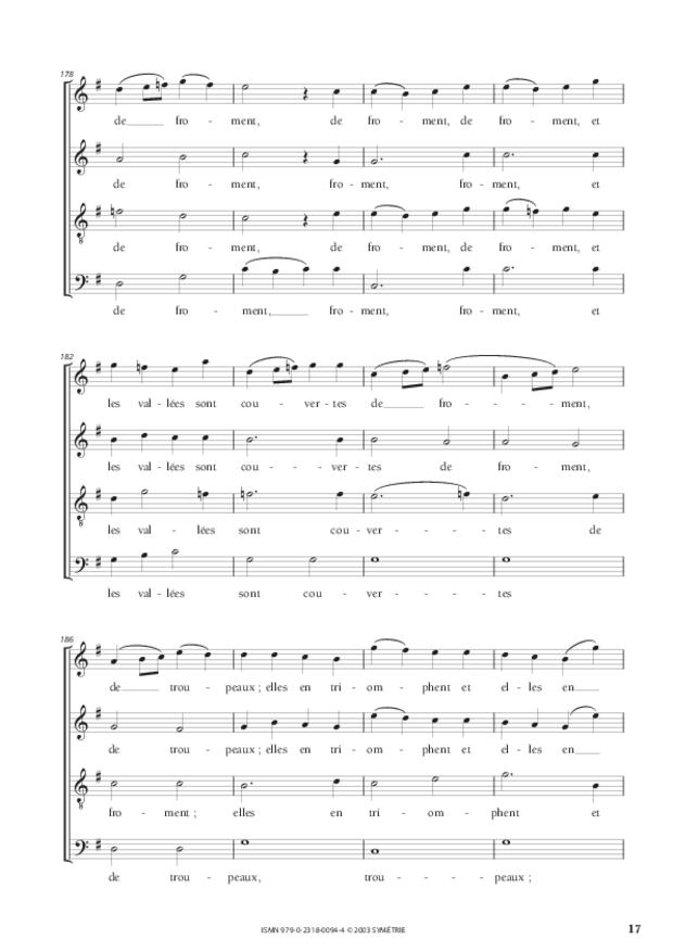 Psaume LXV, extrait 3