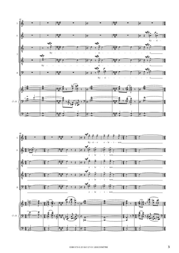 Missa Deo gratias, extrait 3