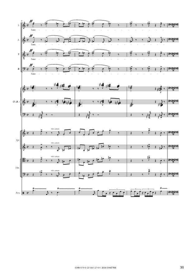Missa Deo gratias, extrait 8