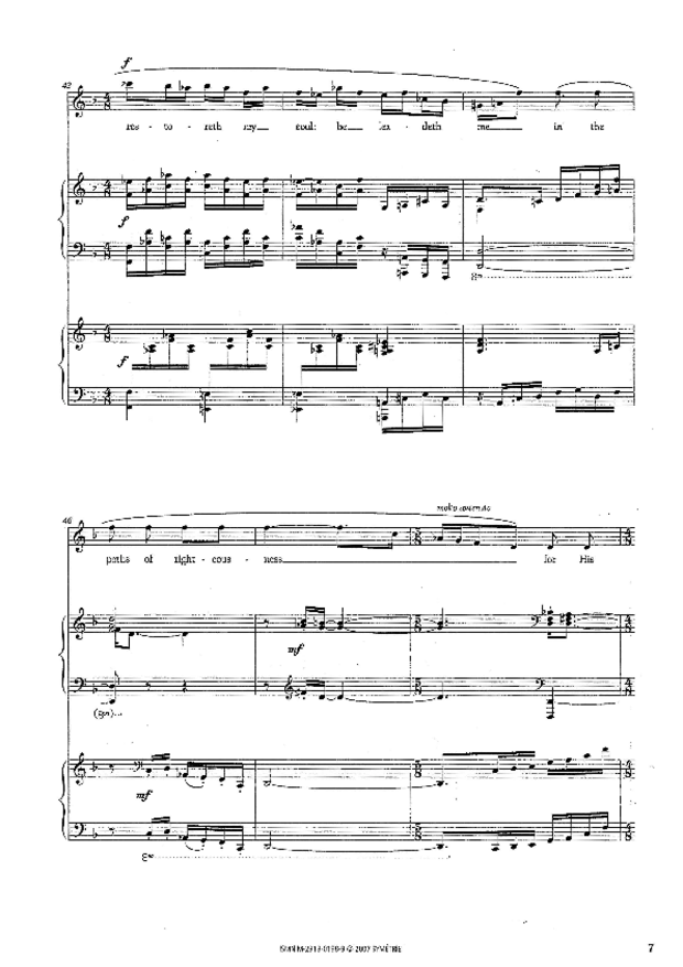 Petite Cantate de chambre, extrait 2