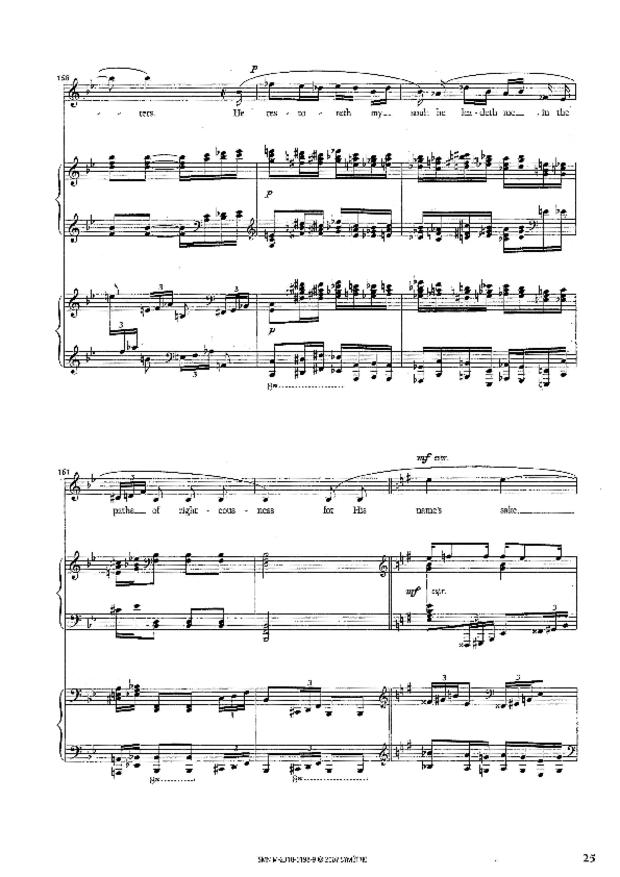 Petite Cantate de chambre, extrait 4
