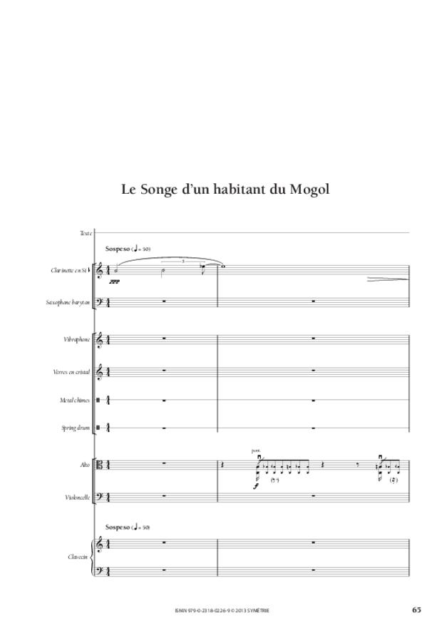 Le Songe d'un habitant du Mogol, extrait 8