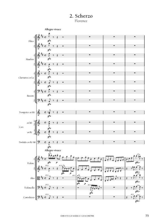 Symphonie en la mineur, extrait 11