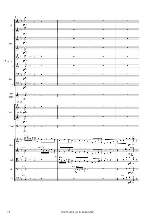 Symphonie en la mineur, extrait 12