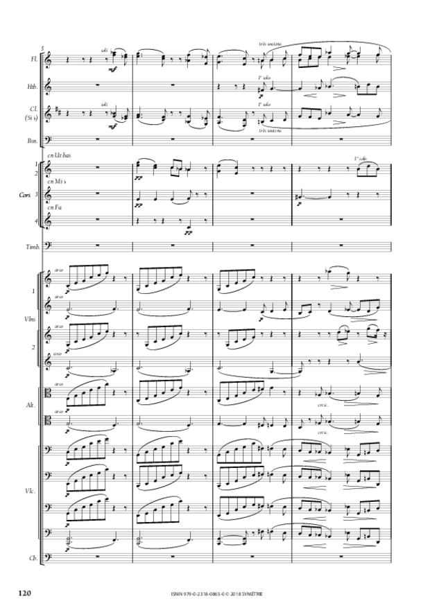 Symphonie en la mineur, extrait 14