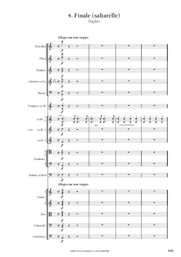 Symphonie en la mineur, extrait 15