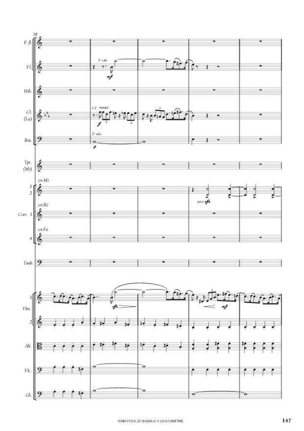 Symphonie en la mineur, extrait 17