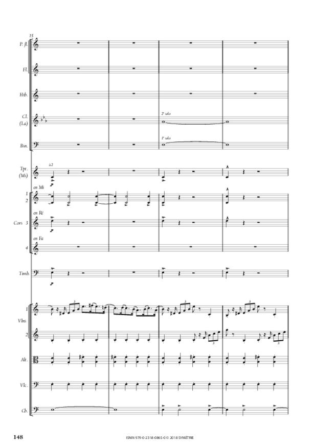 Symphonie en la mineur, extrait 18