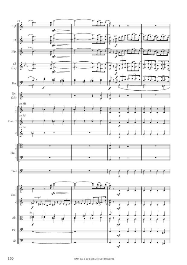 Symphonie en la mineur, extrait 20