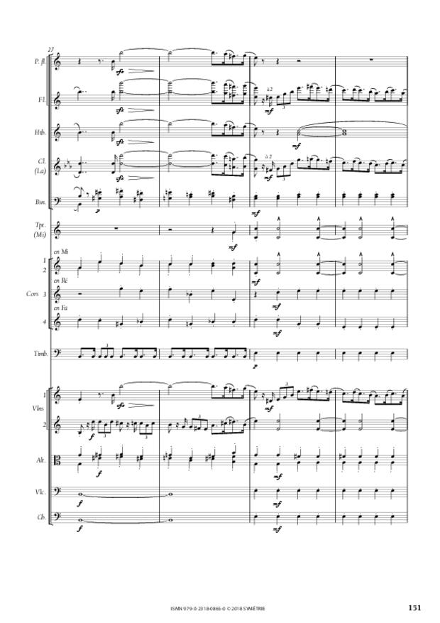 Symphonie en la mineur, extrait 21