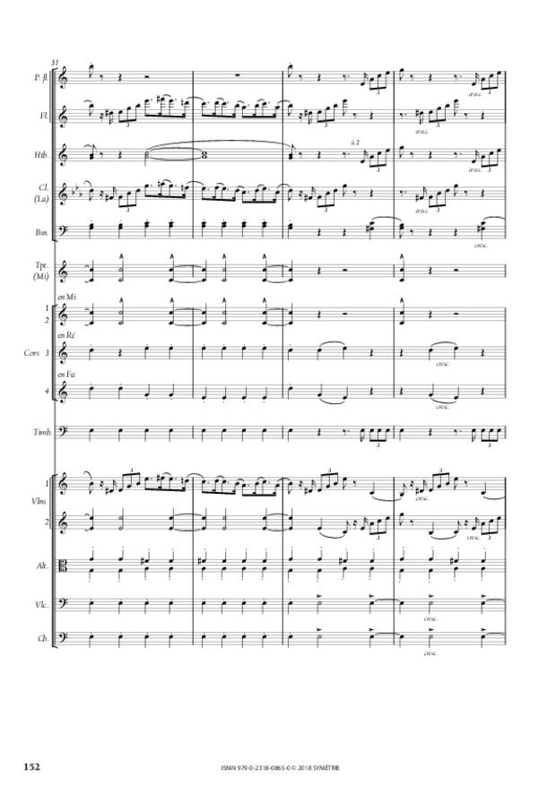 Symphonie en la mineur, extrait 22