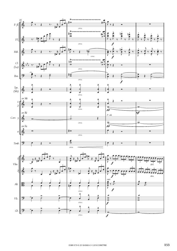 Symphonie en la mineur, extrait 23