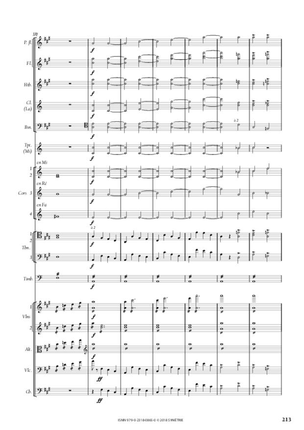 Symphonie en la mineur, extrait 24