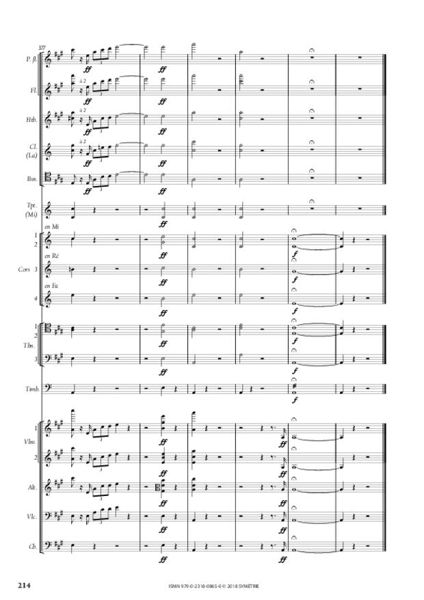 Symphonie en la mineur, extrait 25