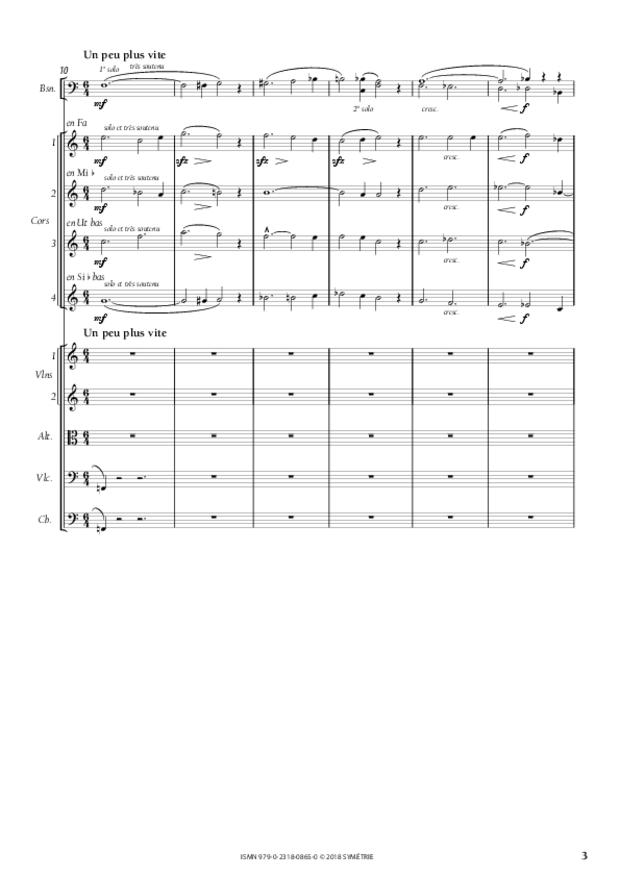 Symphonie en la mineur, extrait 3