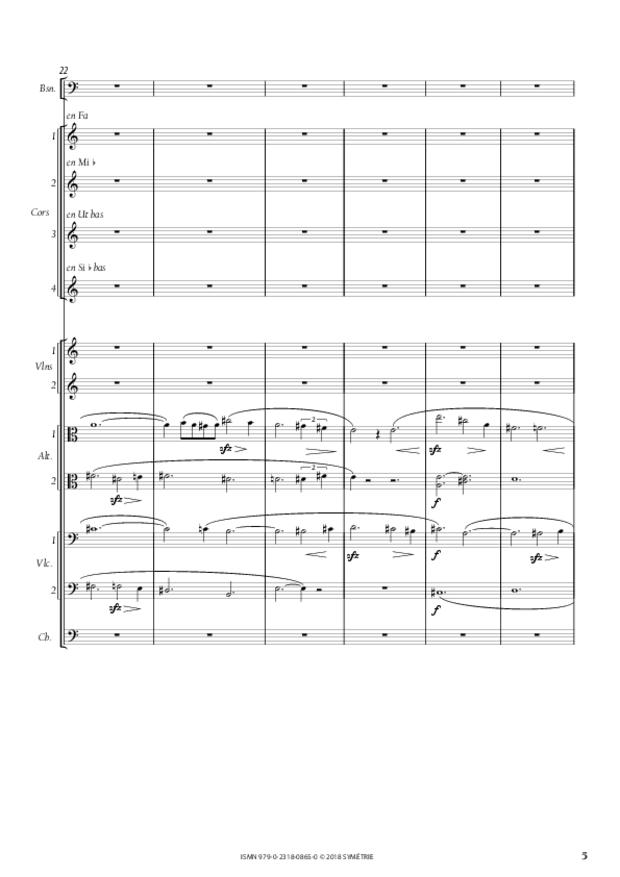 Symphonie en la mineur, extrait 5