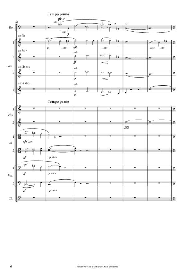 Symphonie en la mineur, extrait 6