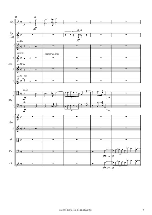 Symphonie en la mineur, extrait 7
