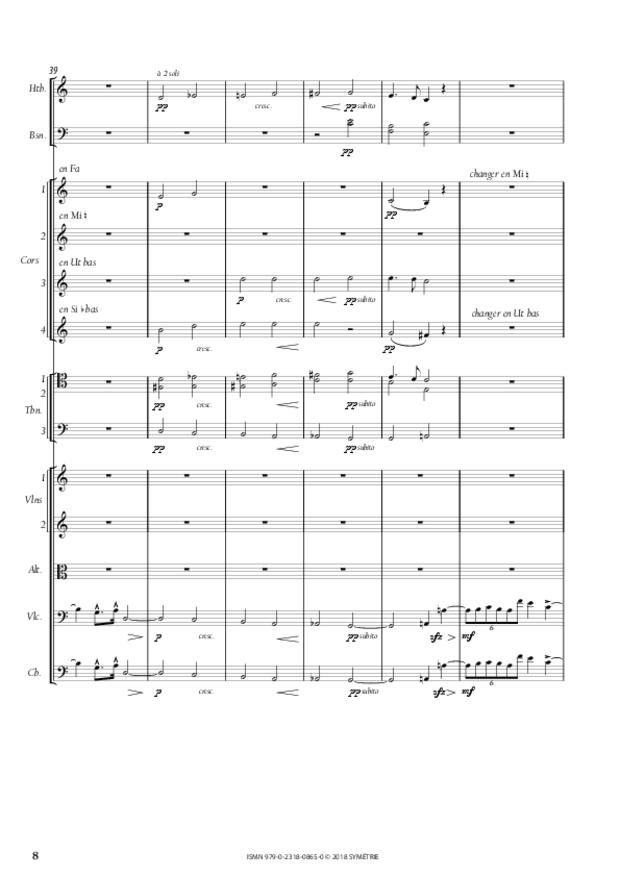 Symphonie en la mineur, extrait 8