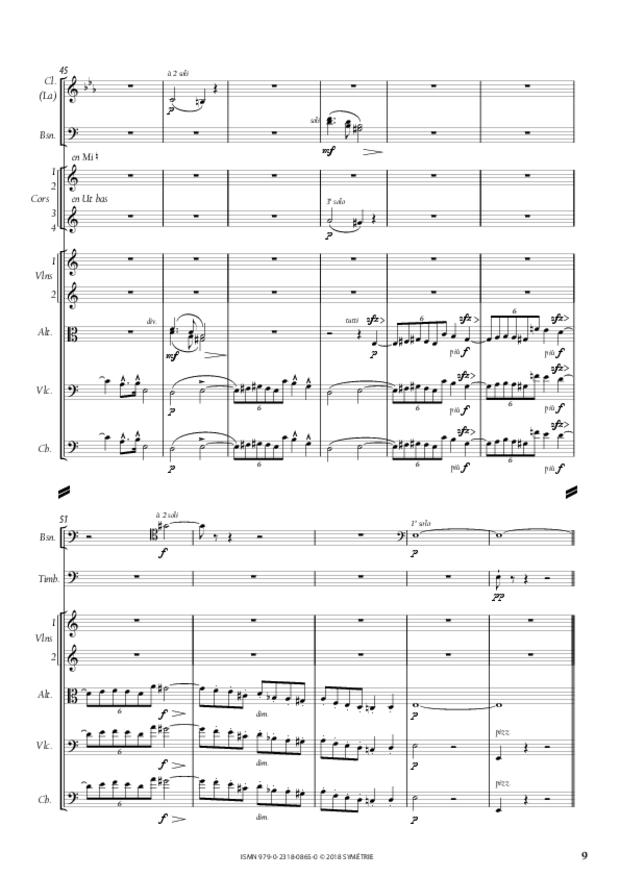 Symphonie en la mineur, extrait 9