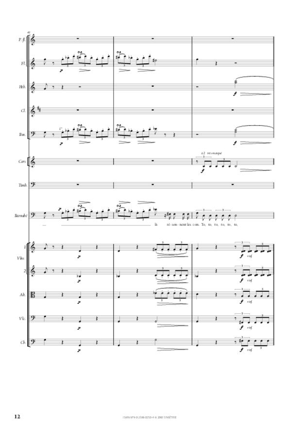 Air de Barnabé extrait du Maître de chapelle, extrait 4