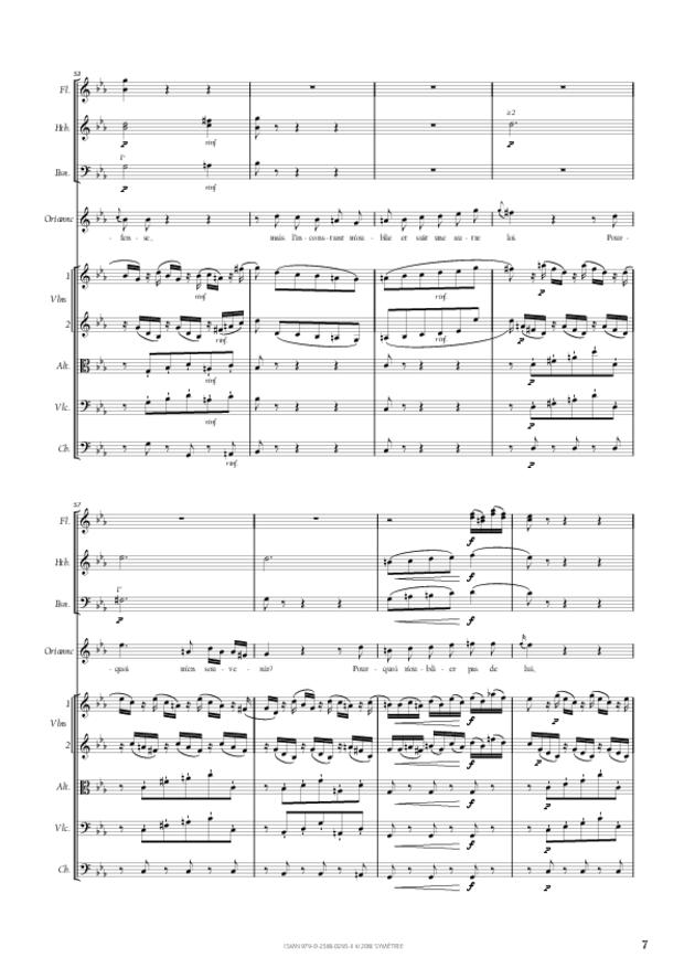 Air d'Oriane extrait d'Amadis de Gaule, extrait 2