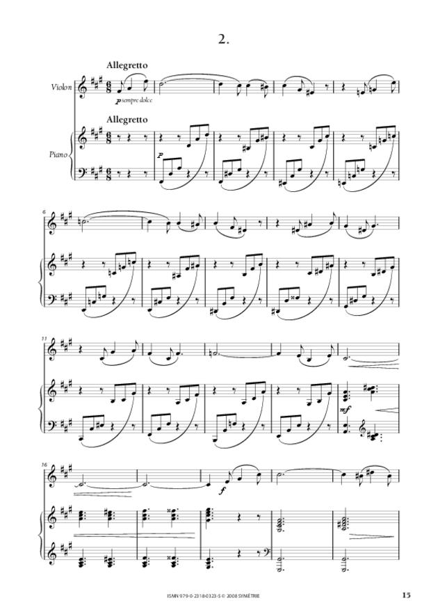 Sonate pour violon et piano, extrait 3