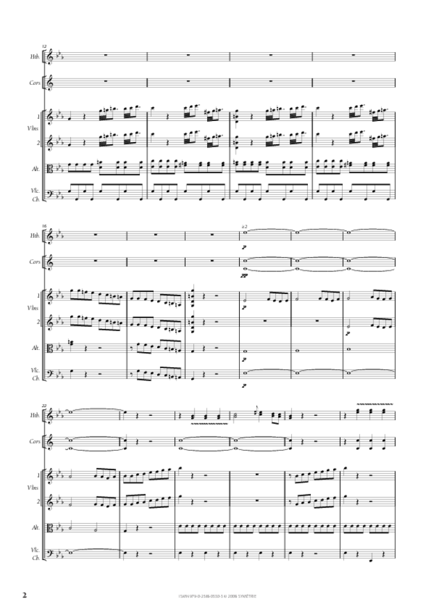 Symphonie en ut mineur, extrait 2