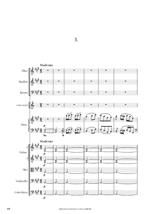 Concerto pour piano et orchestre n°3, extrait 6