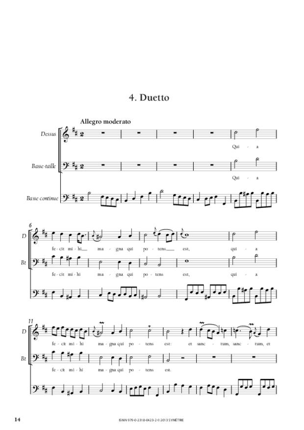 Petit Magnificat, extrait 4