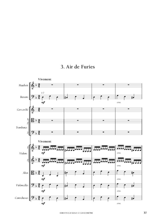 Orphée et Eurydice – Suite d'orchestre (Ouverture, Ballet  des Ombres heureuses, Air de furies), extrait 9
