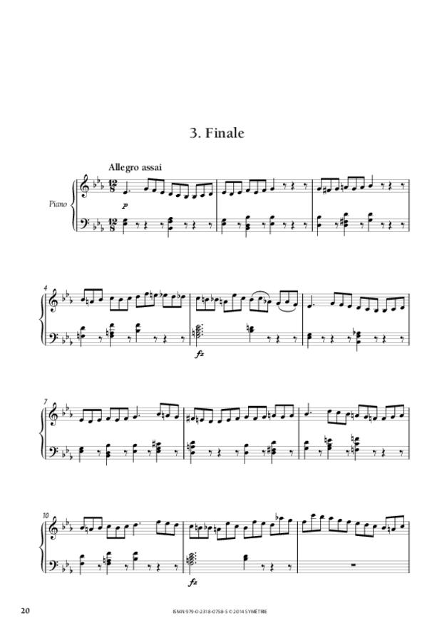 Grande Sonate en mi bémol, extrait 2