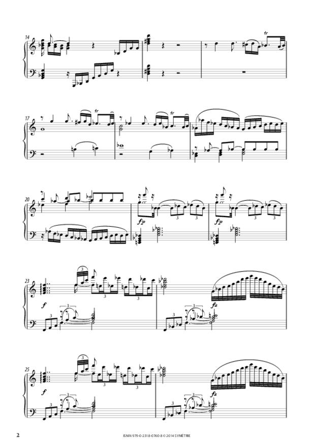 Grande Sonate en ut, extrait 2