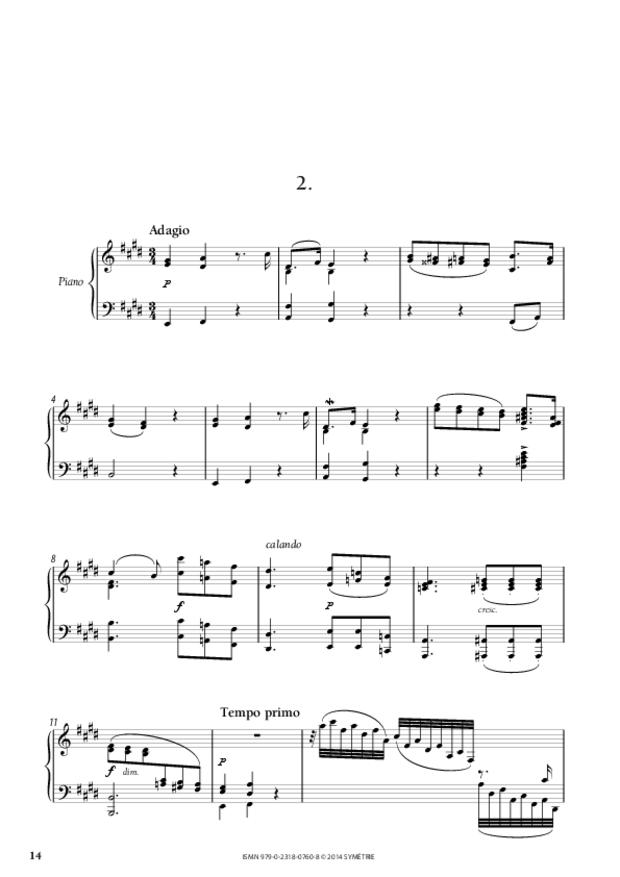 Grande Sonate en ut, extrait 3