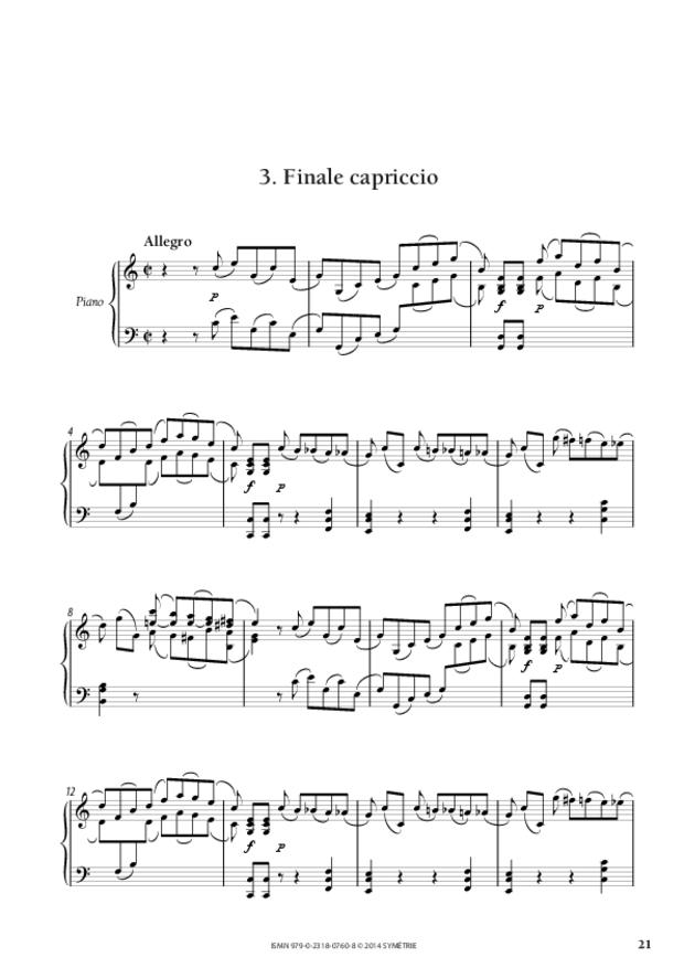 Grande Sonate en ut, extrait 5