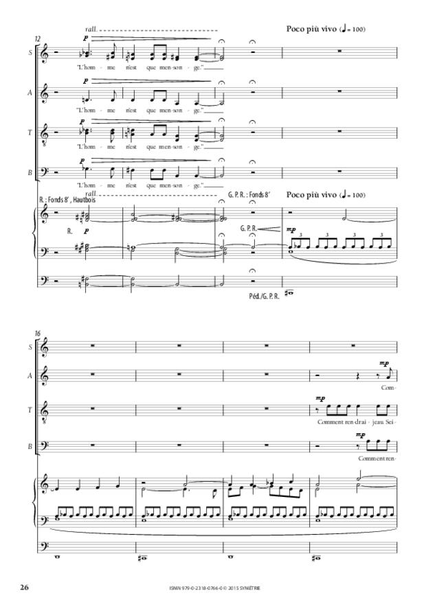 Trois Psaumes, extrait 6