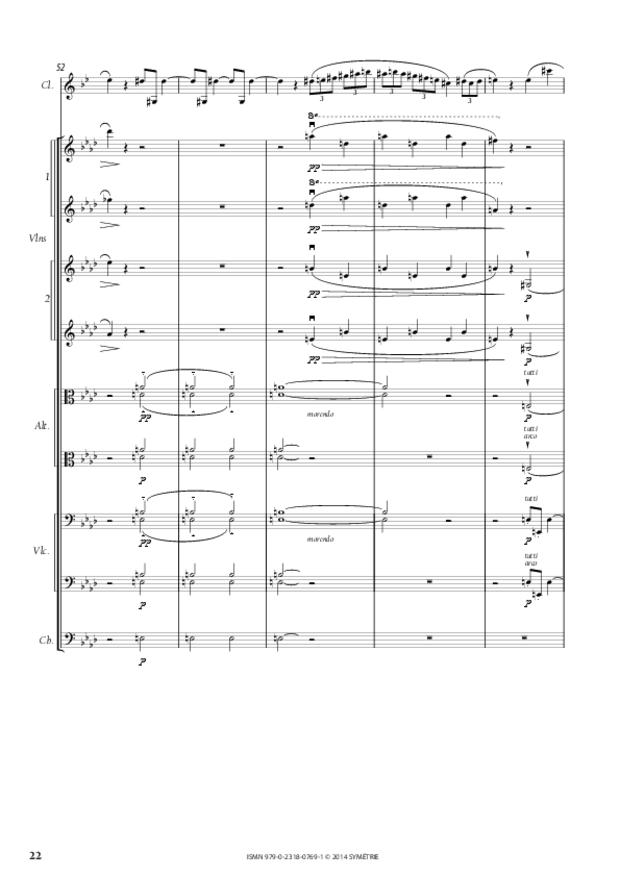 Sonate pour clarinette op. 167, extrait 3
