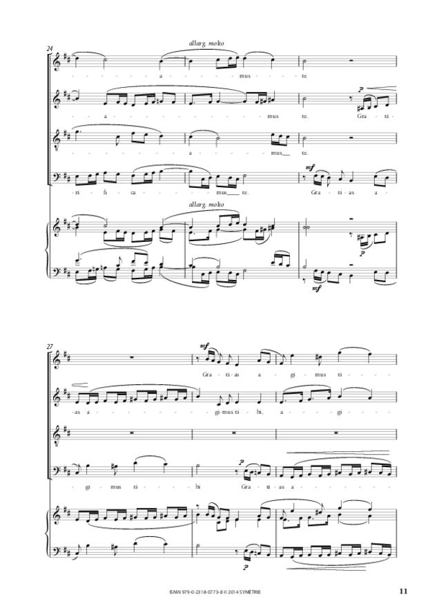 Messe à quatre voix, extrait 2