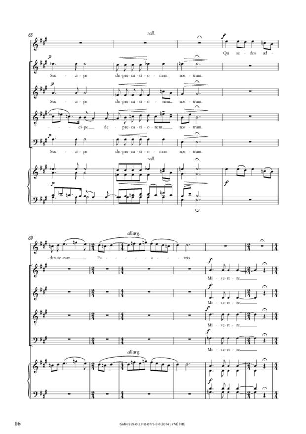 Messe à quatre voix, extrait 3