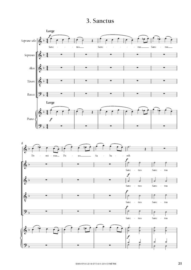 Messe à quatre voix, extrait 4